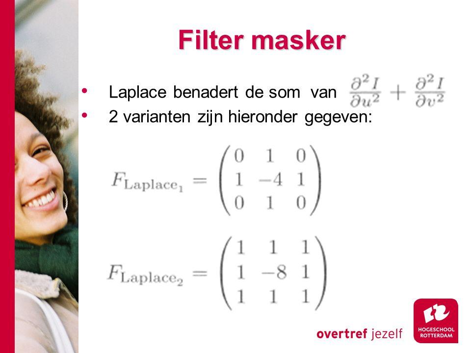 Filter masker Laplace benadert de som van