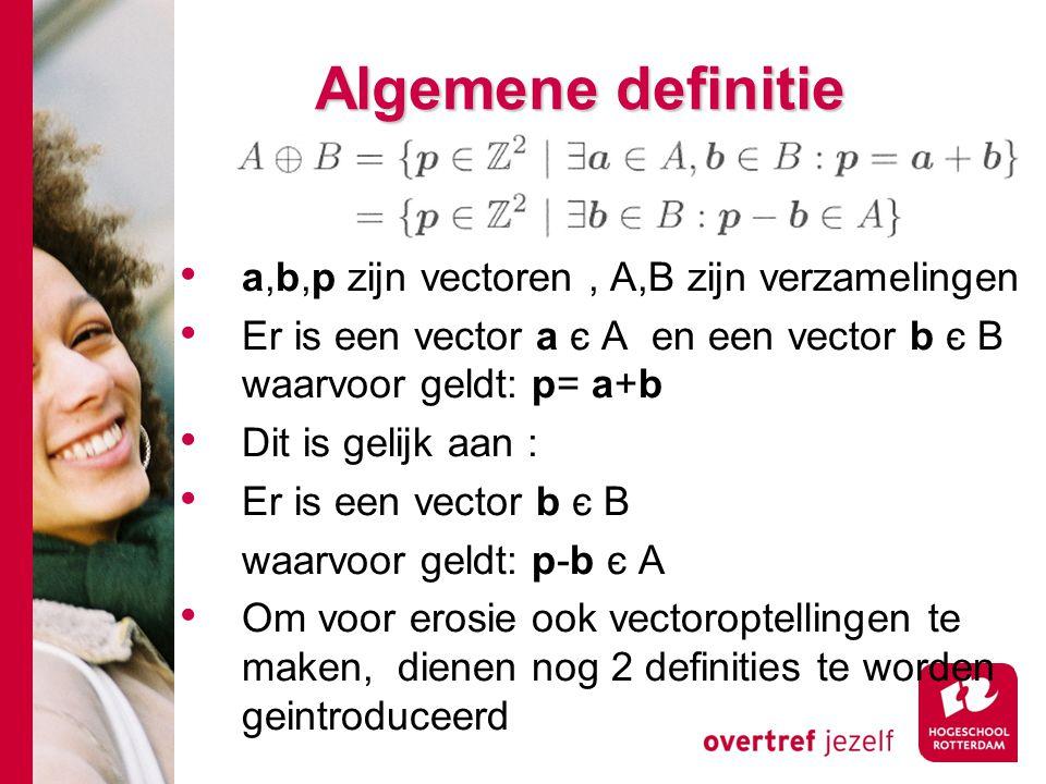 Algemene definitie a,b,p zijn vectoren , A,B zijn verzamelingen