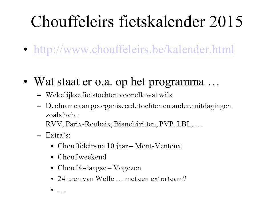 Chouffeleirs fietskalender 2015