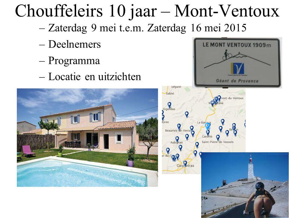 Chouffeleirs 10 jaar – Mont-Ventoux
