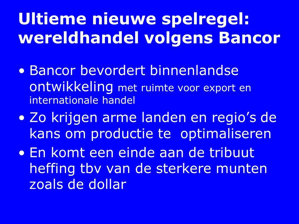 Ultieme nieuwe spelregel: wereldhandel volgens Bancor