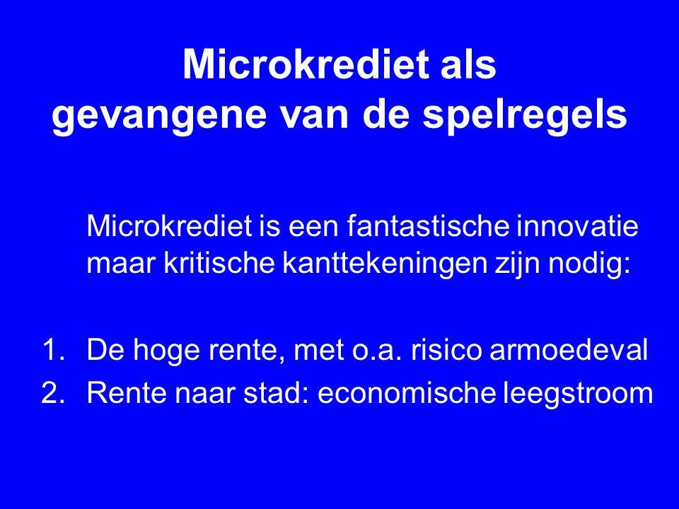 Microkrediet als gevangene van de spelregels
