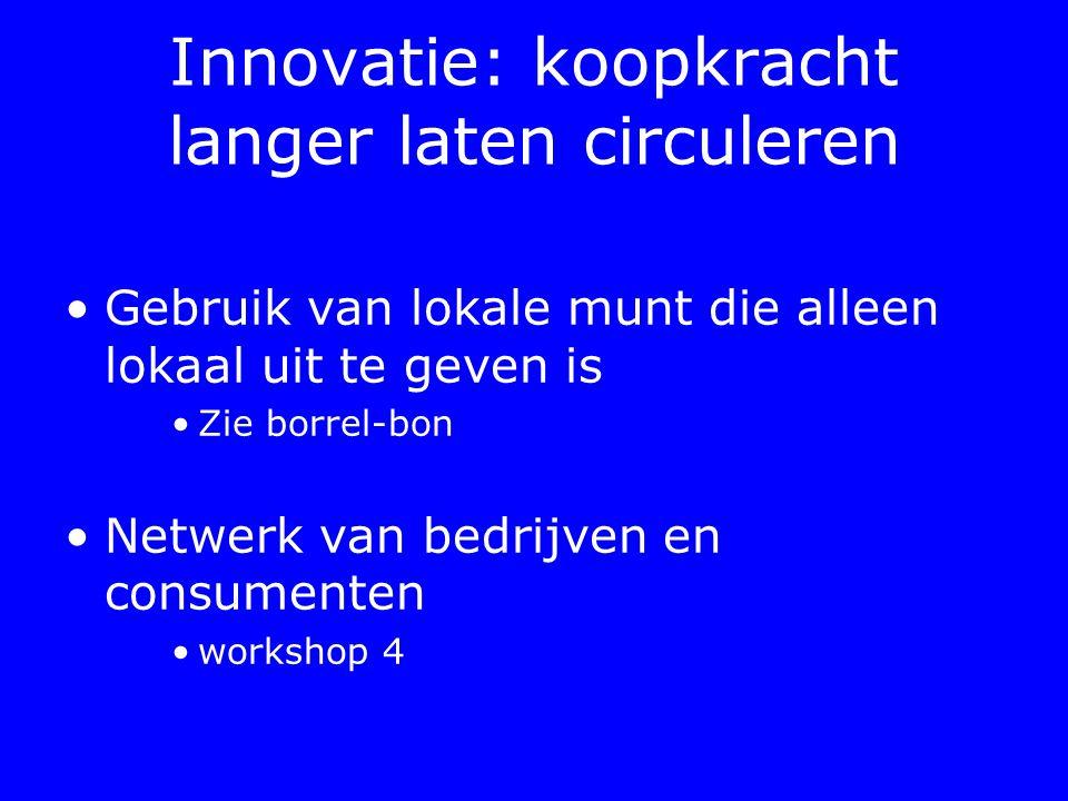 Innovatie: koopkracht langer laten circuleren