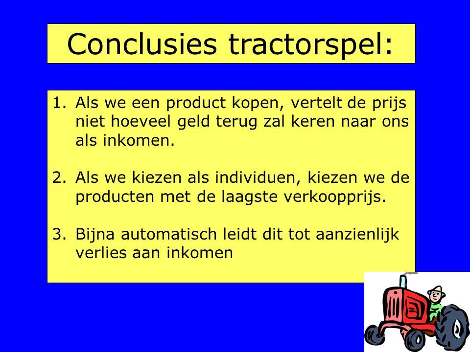 Conclusies tractorspel: