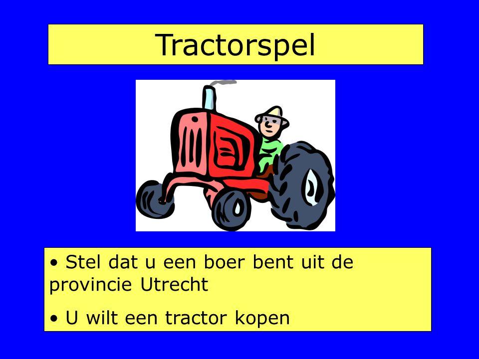 Tractorspel Stel dat u een boer bent uit de provincie Utrecht