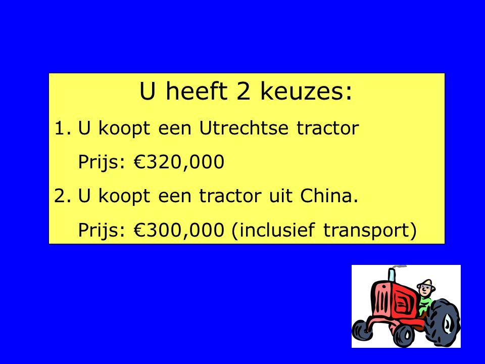 U heeft 2 keuzes: U koopt een Utrechtse tractor Prijs: €320,000