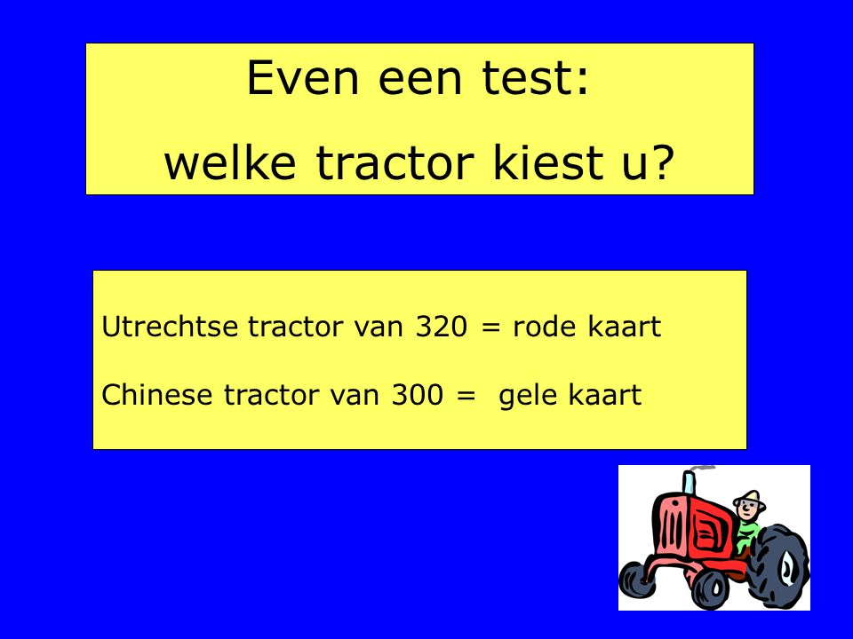 Even een test: welke tractor kiest u