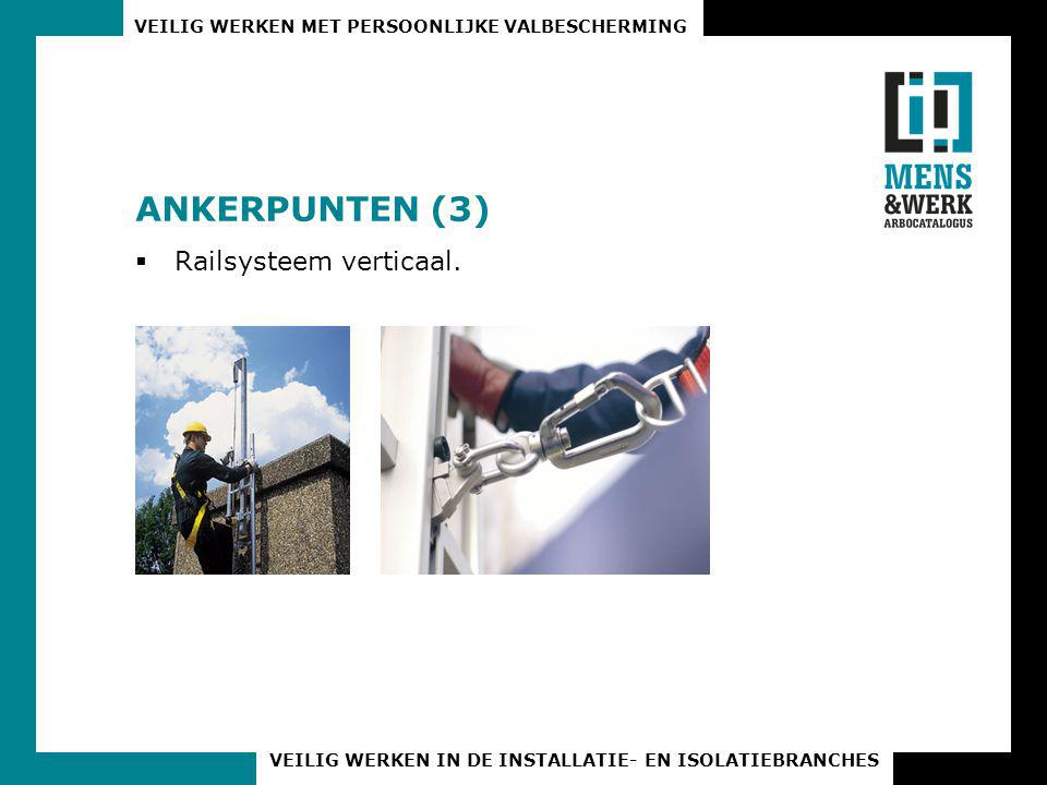 ANKERPUNTEN (3) Railsysteem verticaal.