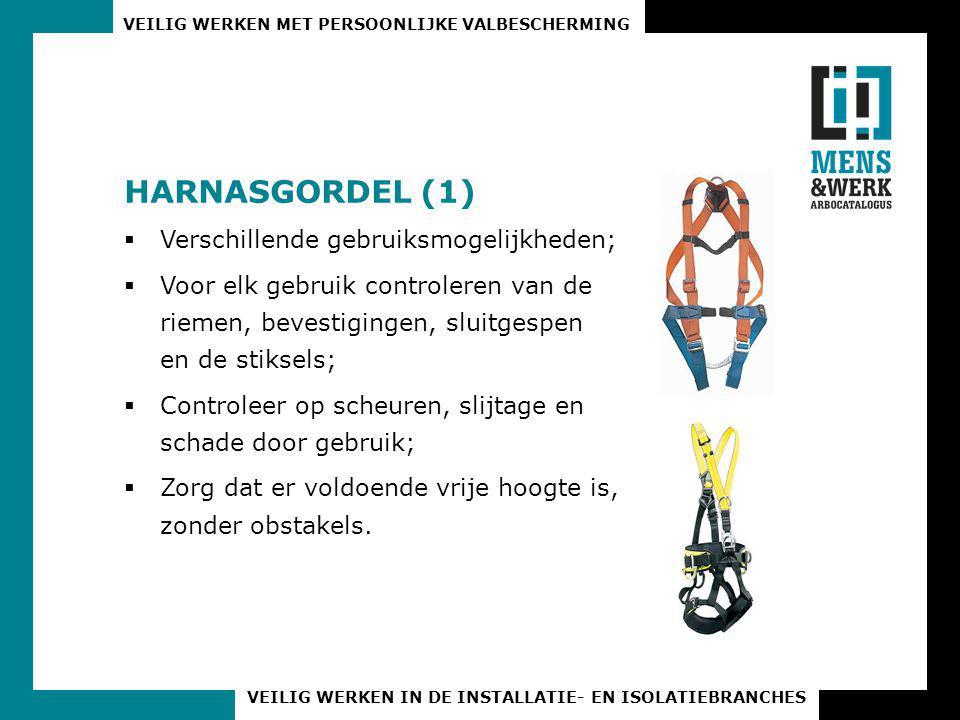 HARNASGORDEL (1) Verschillende gebruiksmogelijkheden;