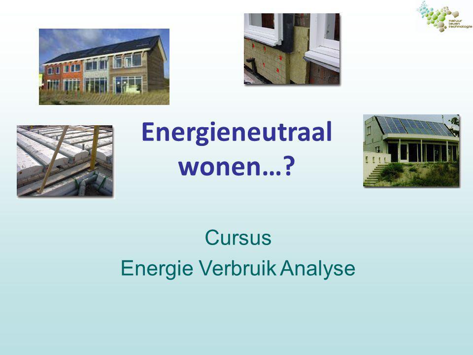 Energieneutraal wonen…