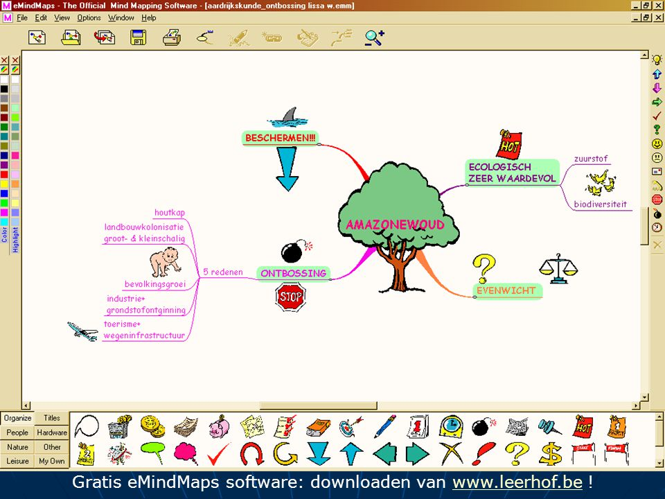 Gratis eMindMaps software: downloaden van www.leerhof.be !