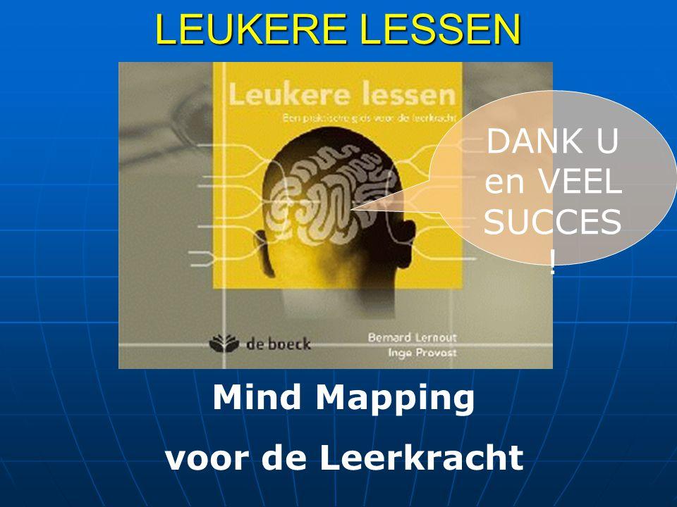 LEUKERE LESSEN DANK U en VEEL SUCCES ! Mind Mapping voor de Leerkracht
