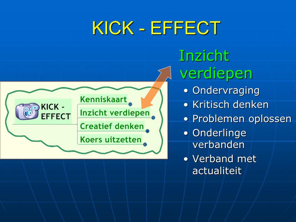 KICK - EFFECT Inzicht verdiepen Ondervraging Kritisch denken
