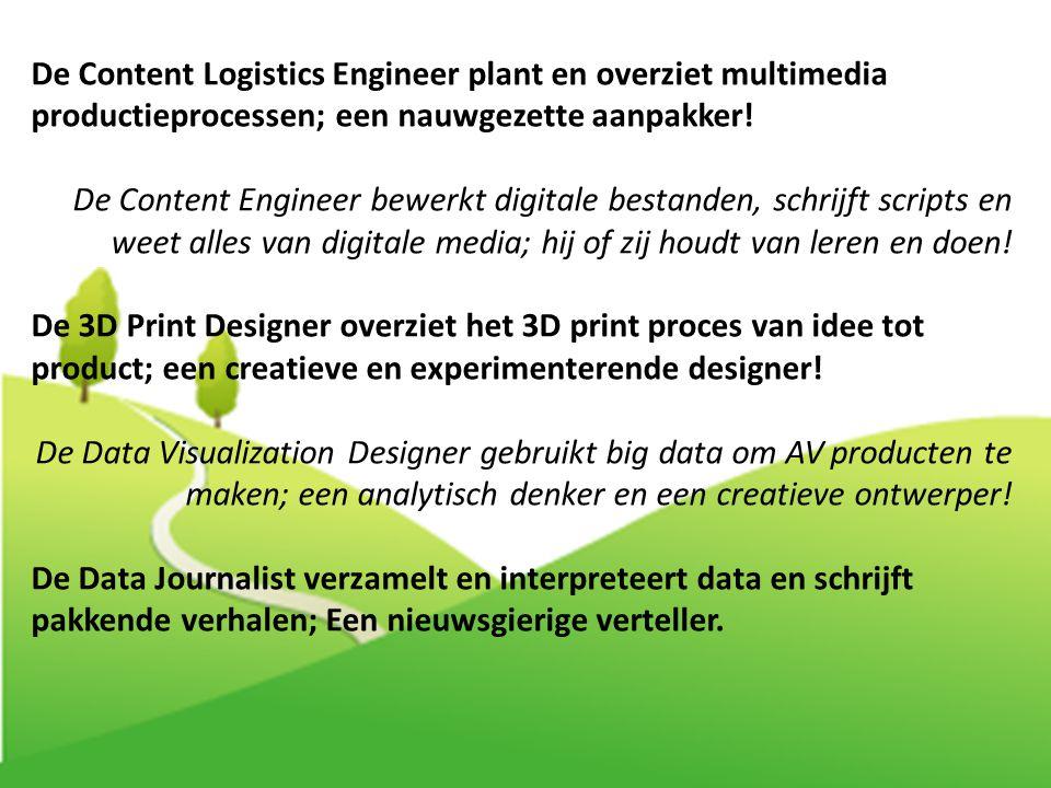 De Content Logistics Engineer plant en overziet multimedia productieprocessen; een nauwgezette aanpakker!