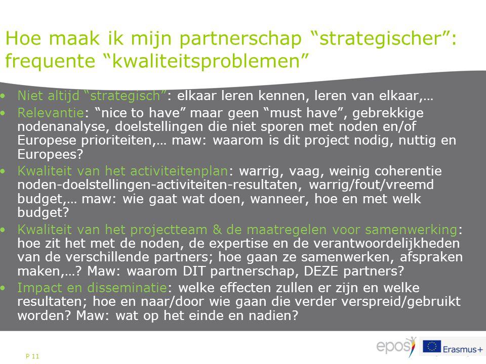Hoe maak ik mijn partnerschap strategischer : frequente kwaliteitsproblemen