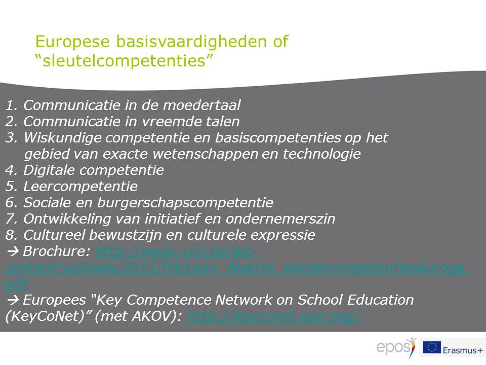 Europese basisvaardigheden of sleutelcompetenties