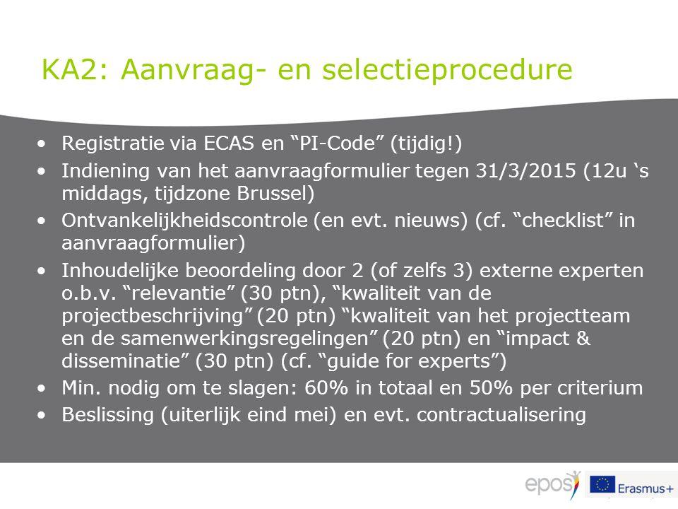 KA2: Aanvraag- en selectieprocedure