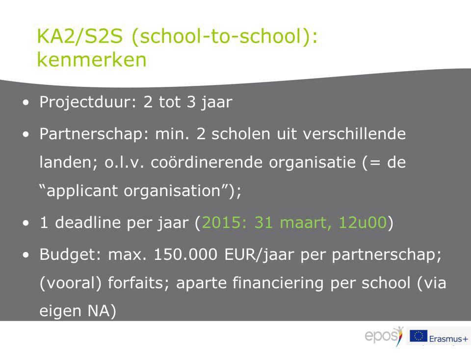 KA2/S2S (school-to-school): kenmerken