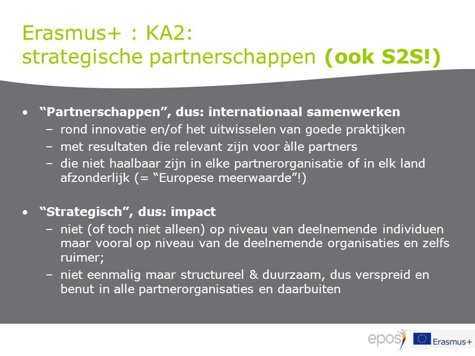 strategische partnerschappen (ook S2S!)