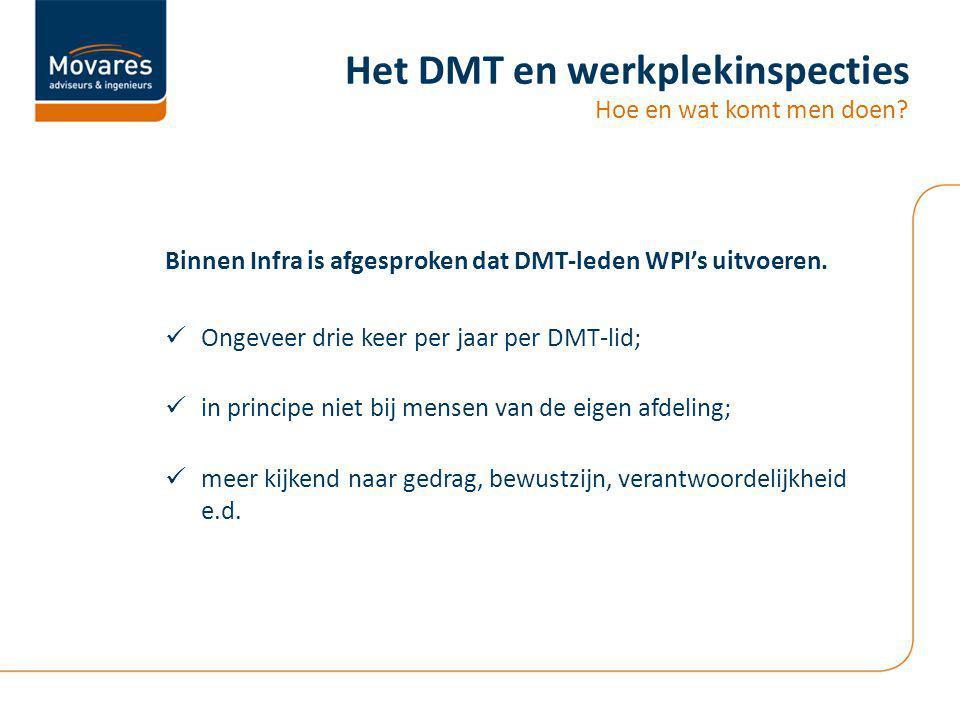 Het DMT en werkplekinspecties
