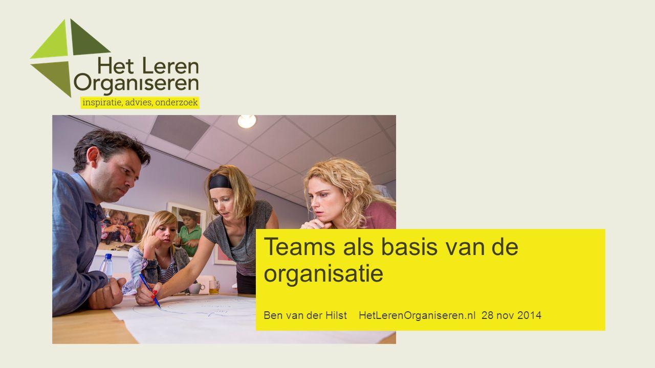 Teams als basis van de organisatie