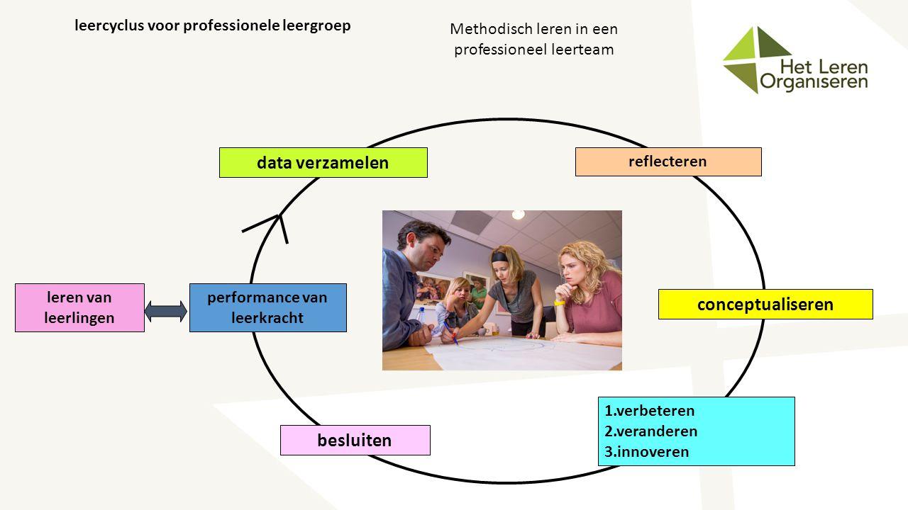 leercyclus voor professionele leergroep performance van leerkracht
