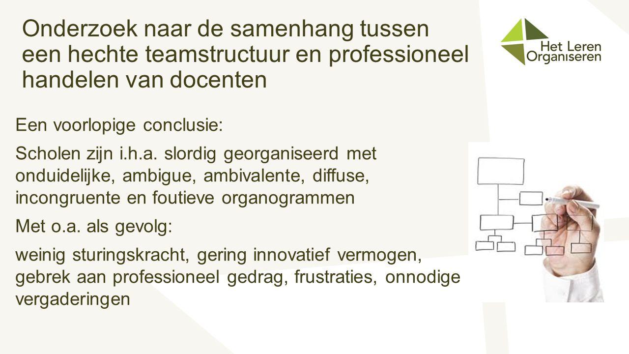 Onderzoek naar de samenhang tussen een hechte teamstructuur en professioneel handelen van docenten