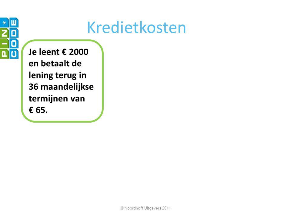 Kredietkosten Je leent € 2000 en betaalt de lening terug in 36 maandelijkse termijnen van.