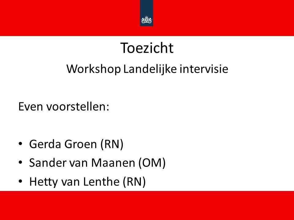 Workshop Landelijke intervisie
