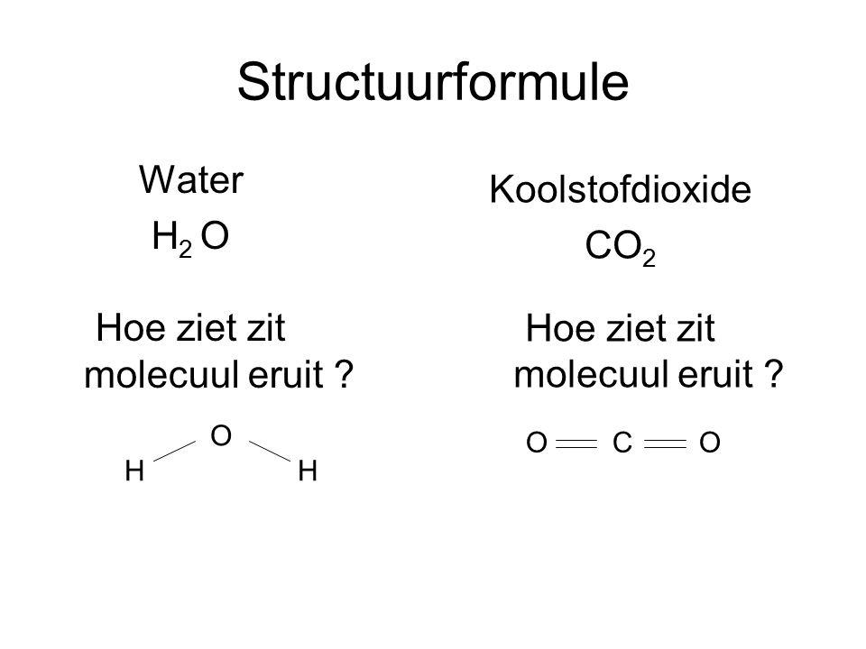 Structuurformule Water Koolstofdioxide H2 O CO2