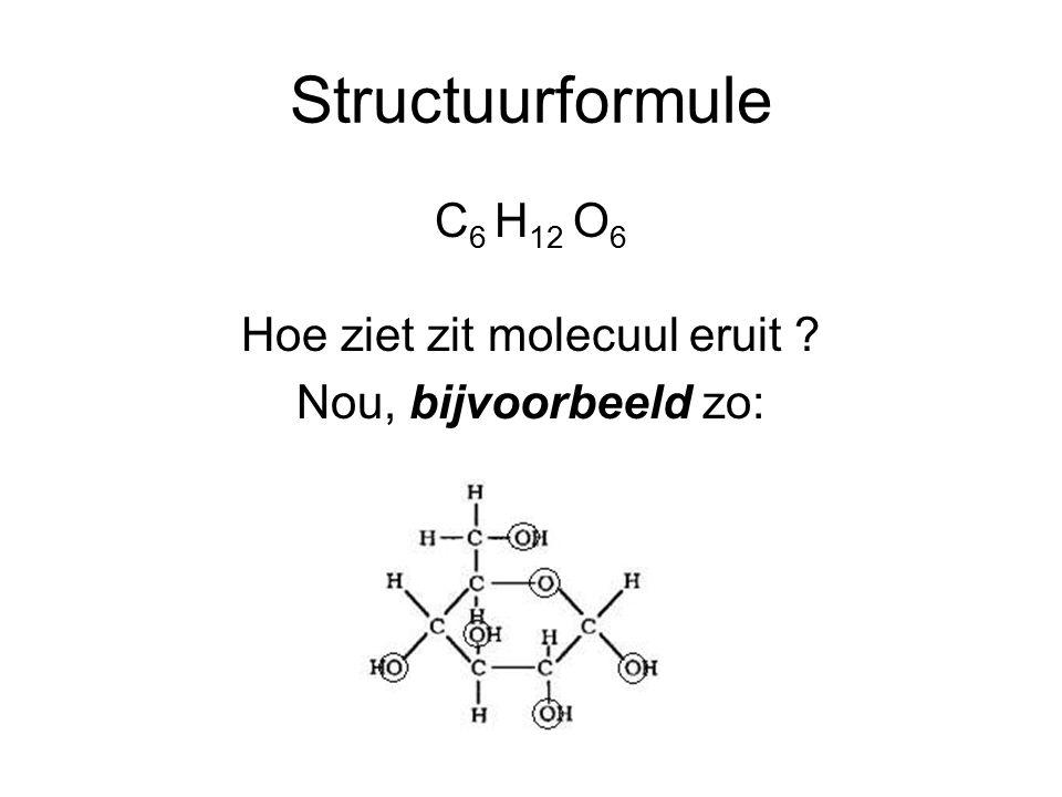 Hoe ziet zit molecuul eruit