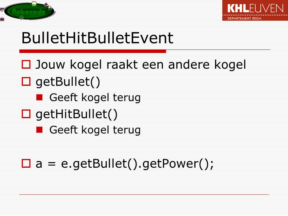 BulletHitBulletEvent