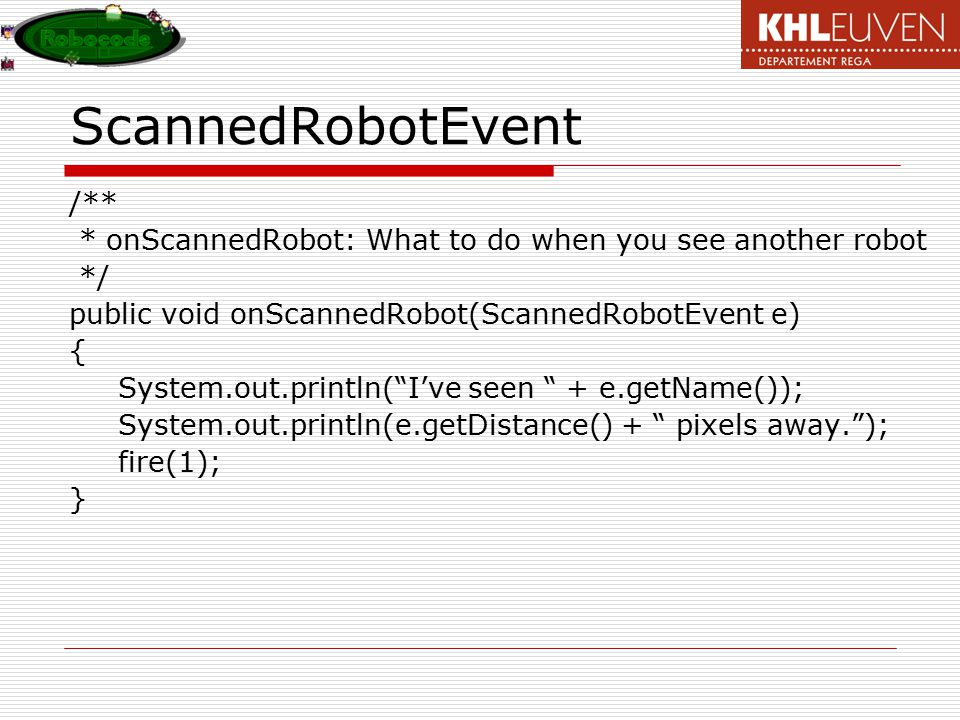 ScannedRobotEvent /**