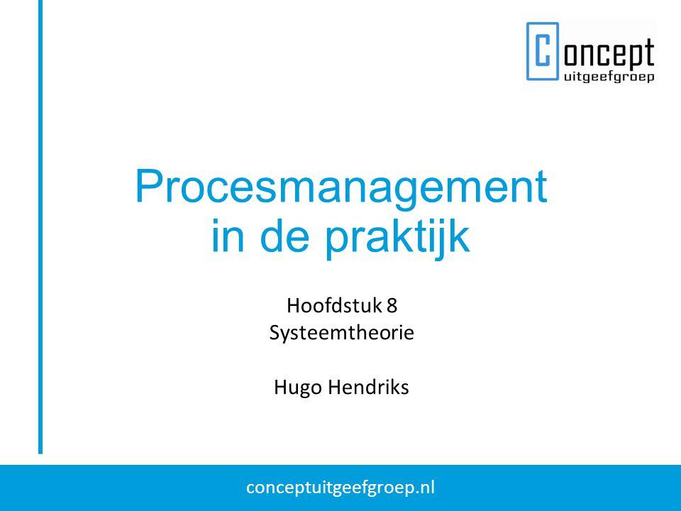 Procesmanagement in de praktijk Hoofdstuk 8 Systeemtheorie