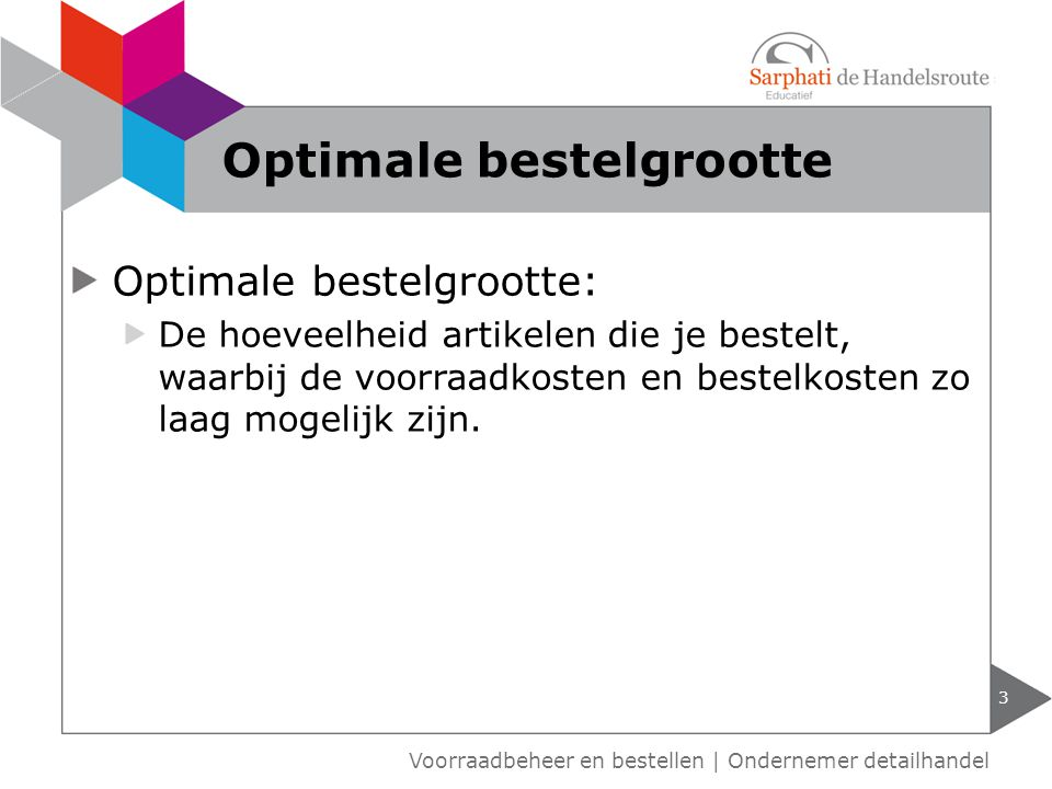 Optimale bestelgrootte