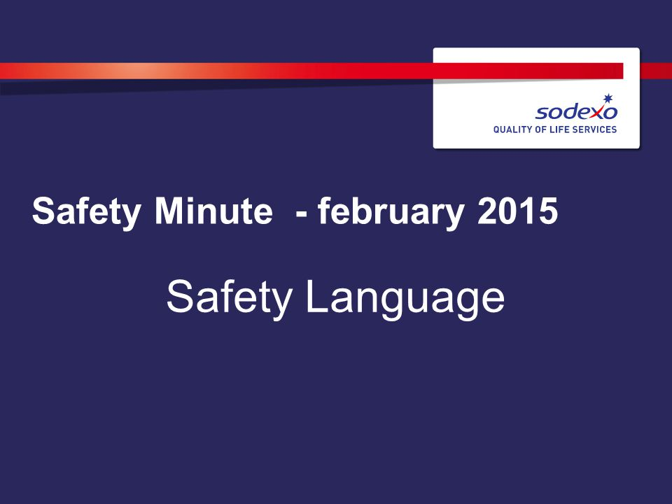 Safety Minute - february 2015