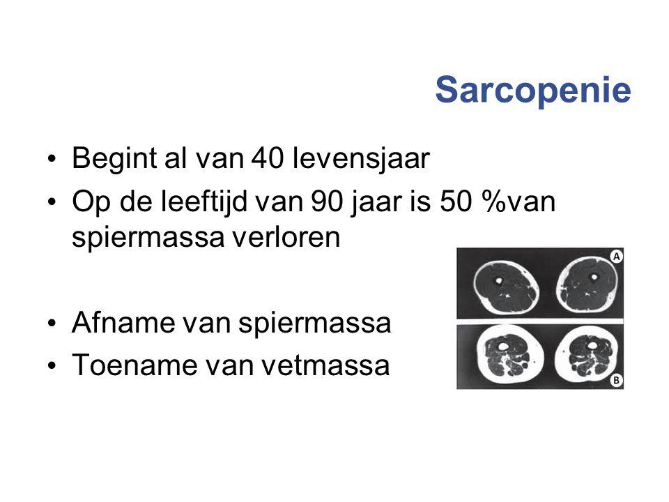 Sarcopenie Begint al van 40 levensjaar