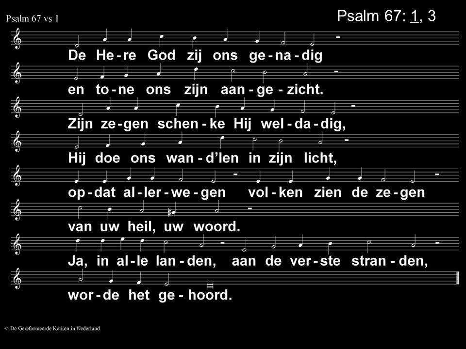 Psalm 67: 1, 3