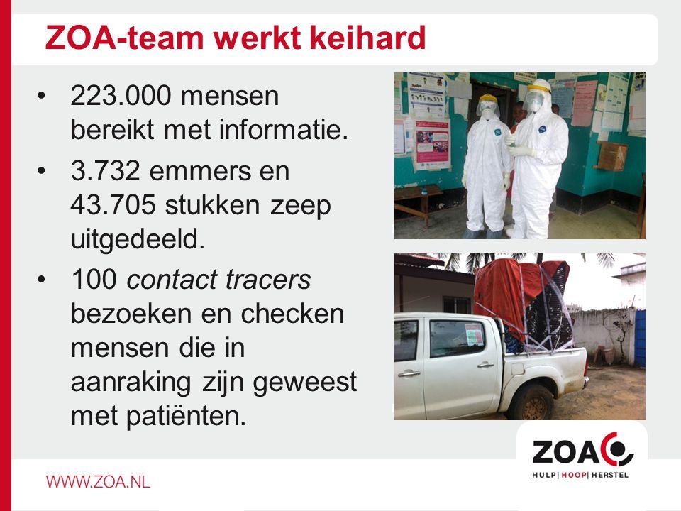ZOA-team werkt keihard