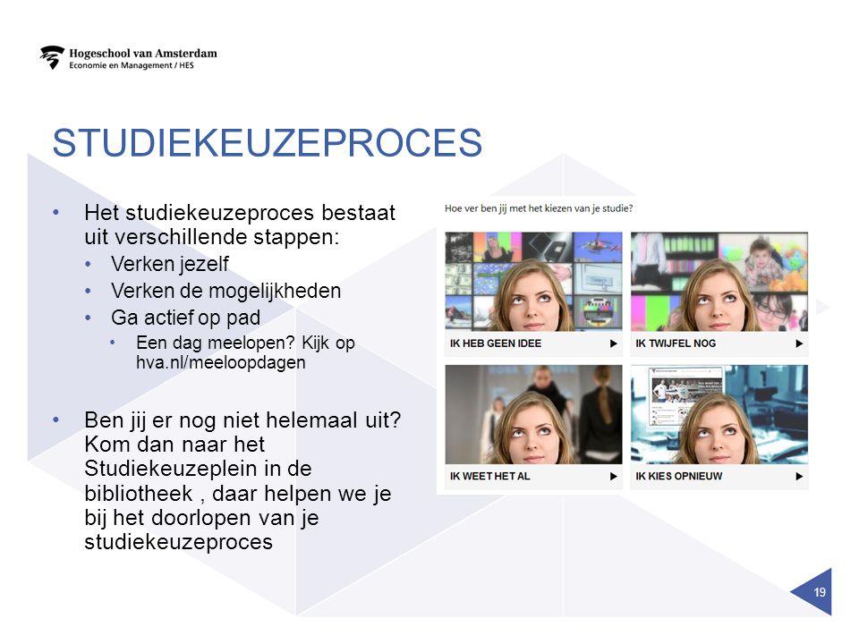 STUDIEKEUZEPROCES Het studiekeuzeproces bestaat uit verschillende stappen: Verken jezelf. Verken de mogelijkheden.