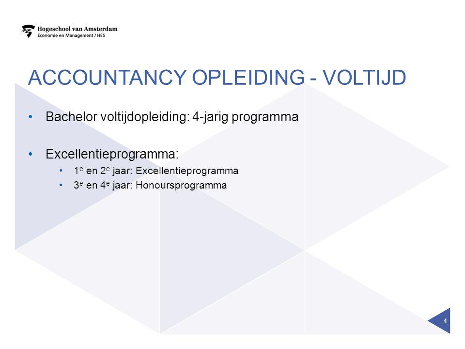 Accountancy opleiding - voltijd