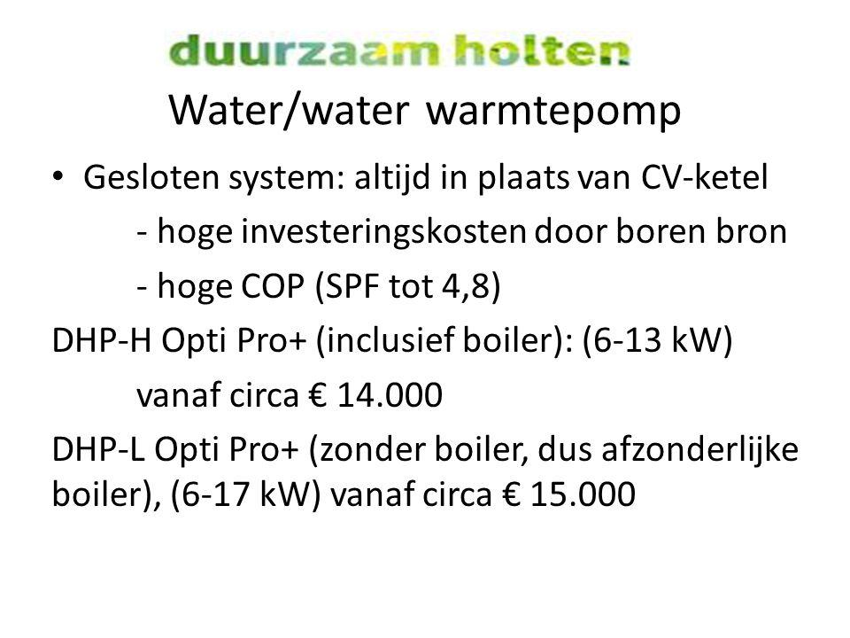 Water/water warmtepomp