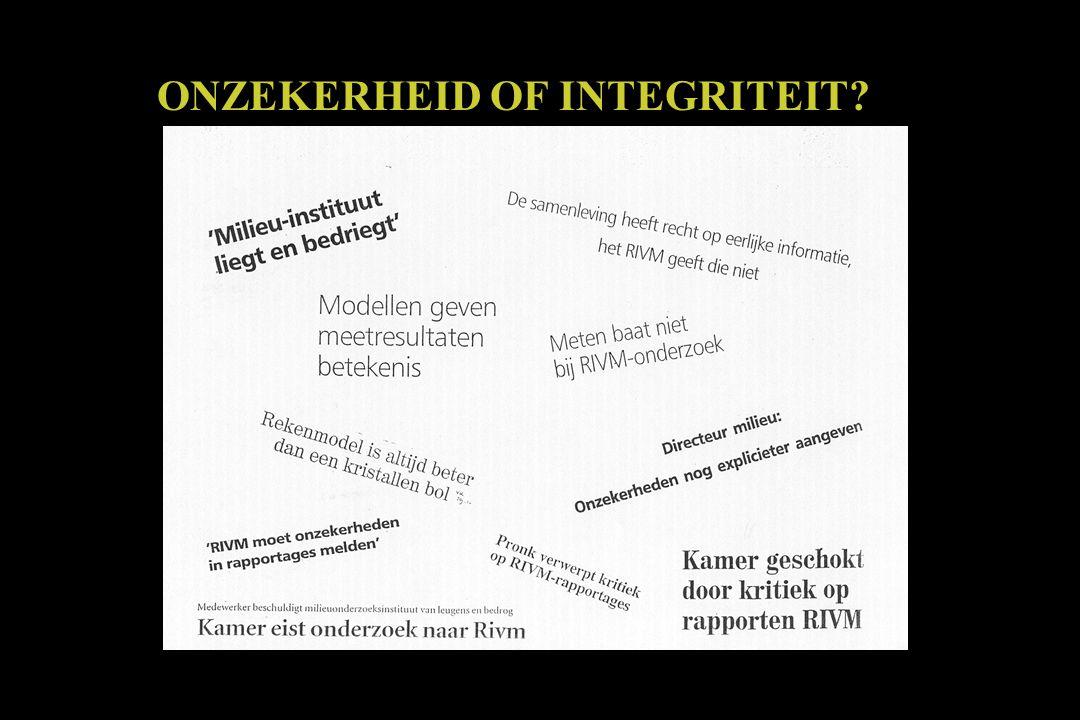 ONZEKERHEID OF INTEGRITEIT