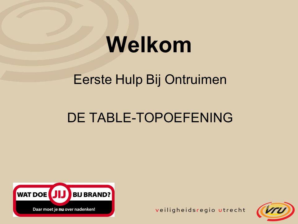 Eerste Hulp Bij Ontruimen DE TABLE-TOPOEFENING