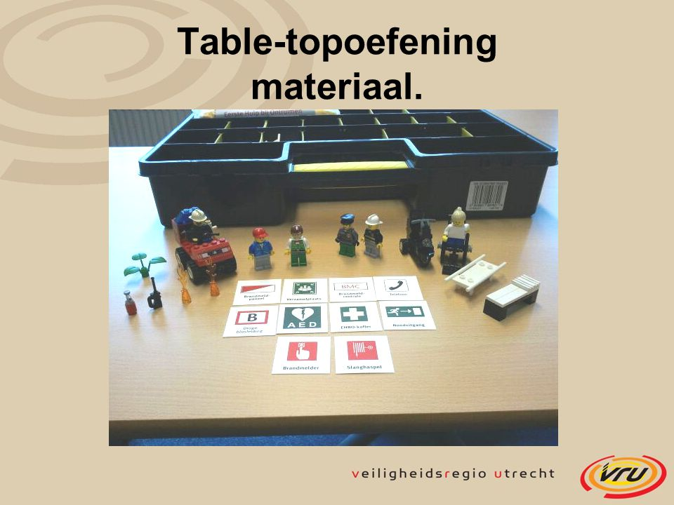 Table-topoefening materiaal.