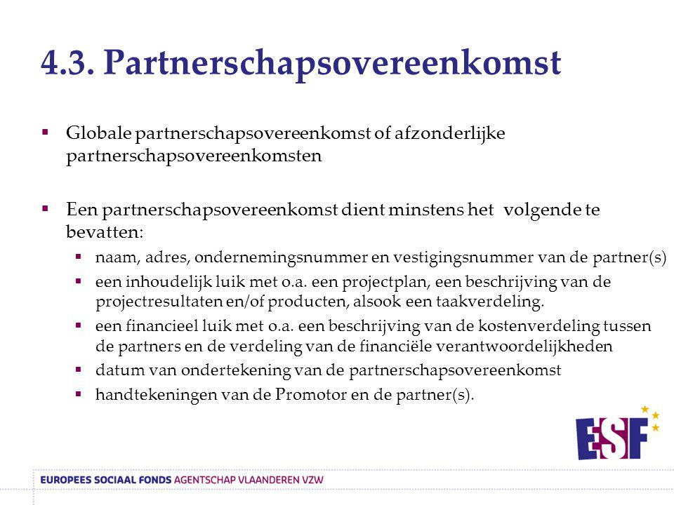 4.3. Partnerschapsovereenkomst