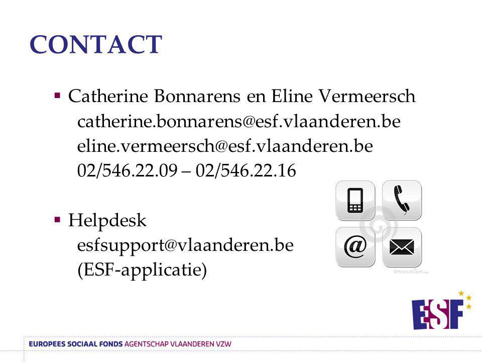 CONTACT Catherine Bonnarens en Eline Vermeersch