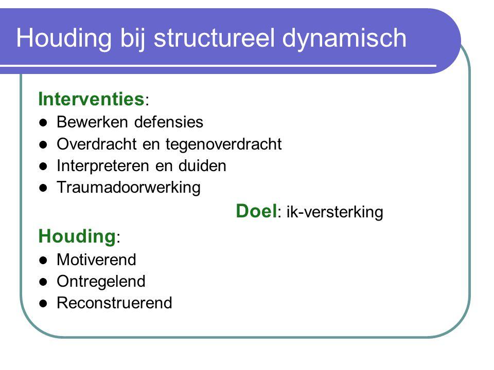 Houding bij structureel dynamisch