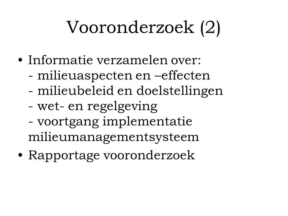 Vooronderzoek (2)