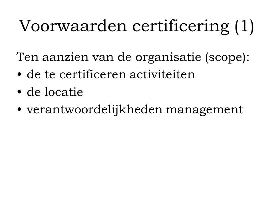 Voorwaarden certificering (1)
